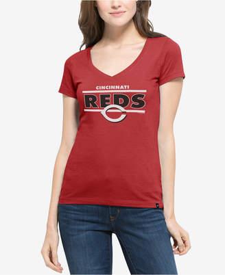 '47 Women's Cincinnati Reds Speckle Flanker T-Shirt