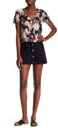 Keniston Button-Up Suede Skirt $87 thestylecure.com