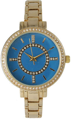 Mother of Pearl OLIVIA PRATT Olivia Pratt Womens Rhinestone Bezel Faux Rhinestone Dial Royal Bracelet Watch 14403Royal