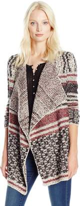 Lucky Brand Women's Mixed Striped Cardigan