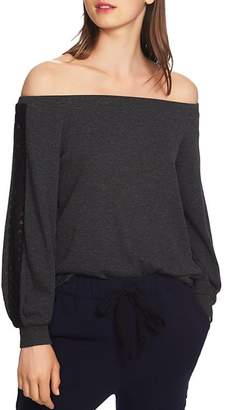 1 STATE 1.STATE Off-the-Shoulder Lace-Trim Top