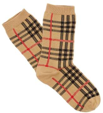 Burberry - Vintage Check Cotton Blend Socks - Mens - Beige