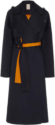 Roksanda Aroa Pleated Back Wool-Cotton Coat