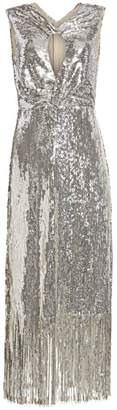 Rachel Comey Petra Keyhole Sequin Fringe Midi Dress