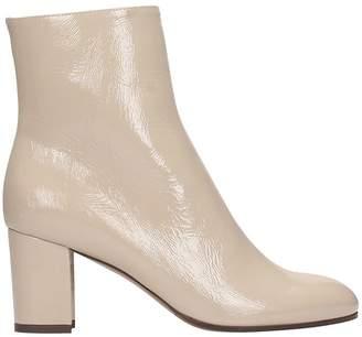 L'Autre Chose Grey Patent Leather Ankle Boots