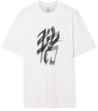 Vetements Printed Cotton-jersey T-shirt