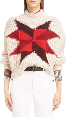 ISABEL MARANT Hanoi Intarsia Patchwork Sweater