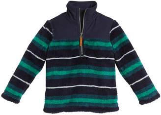 Joules Striped Half-Zip Fleece Pullover, Size 2-6