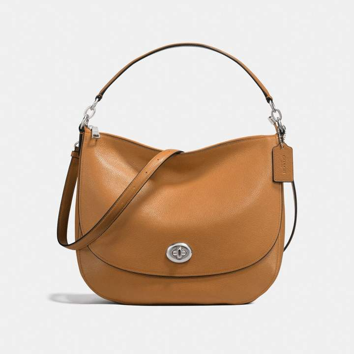 Coach New YorkCoach Turnlock Hobo - LIGHT SADDLE/SILVER - STYLE