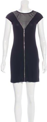Alexander WangAlexander Wang Zipper-Trimmed Mini Dress