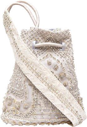 Saptodjojokartiko Choiru Sling Embroidered Taffeta Pouch Bag