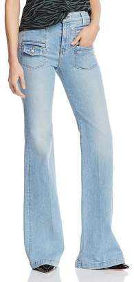 7 For All Mankind Georgia Flare Jeans in Roxy Lights