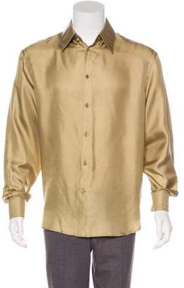 Gianni Versace Woven Button-Up Shirt