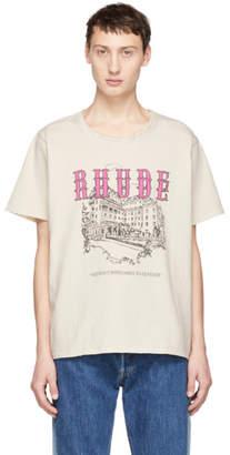 Rhude White Chateau Logo T-Shirt