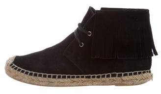 Saint Laurent Fringed Espadrille Booties