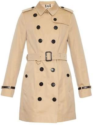 Burberry Sandringham leopard-print detail trench coat