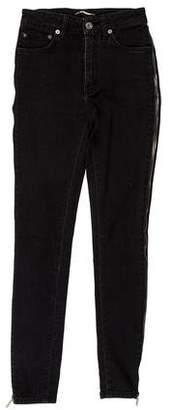 Saint Laurent Zip-Accented Mid-Rise Jeans