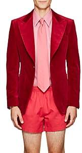 Gucci Men's Cotton Velvet One-Button Sportcoat - Md. Pink