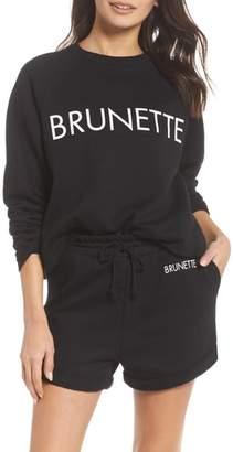 BRUNETTE the Label Brunette Raw Hem Sweatshirt