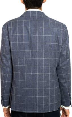 Joe's Jeans Men's Slim-Fit Cotton/Linen Windowpane Blazer