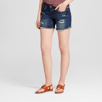 "Dollhouse Women's Destructed 5"" Boyfriend Jean Shorts - Dollhouse (Juniors') $24.99 thestylecure.com"