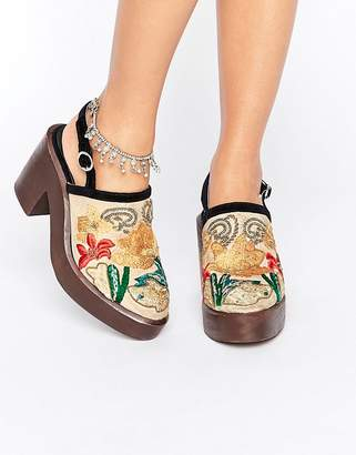 Free People Embroidered Clog