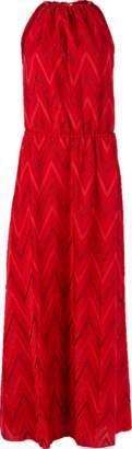 M Missoni Elastic Waist Halter Dress