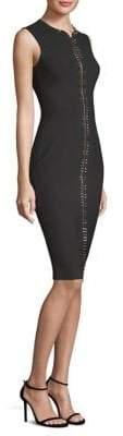 Versace Studded Zip-Front Dress