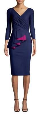 Chiara Boni Ruched Ruffle Drape Sheath Dress