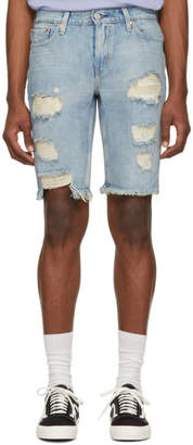 Levi's Levis Blue Denim 511 Slim Cut-Off Shorts