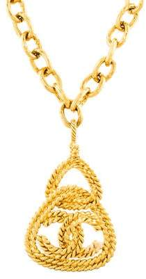 Chanel Twisted Rope CC Logo Pendant Necklace