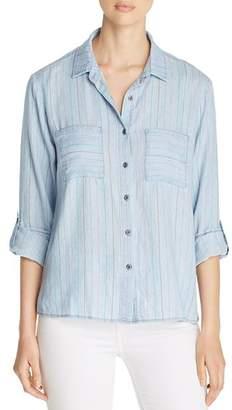 BILLY T Striped Chambray Shirt