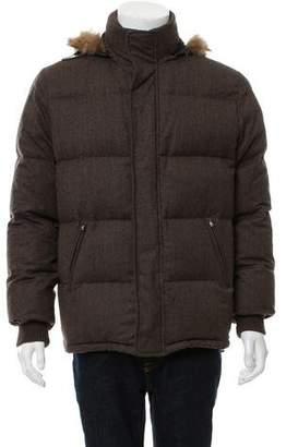 Barneys New York Barney's New York Tweed Puffer Jacket
