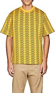 "Oamc Men's ""Kunst=Kapital"" Knit Cotton T-Shirt - Yellow"
