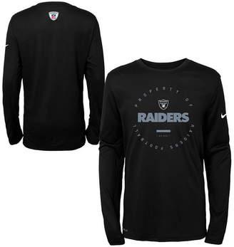 Nike Oakland Raiders Prop Of Long Sleeve T-Shirt, Big Boys (8-20)