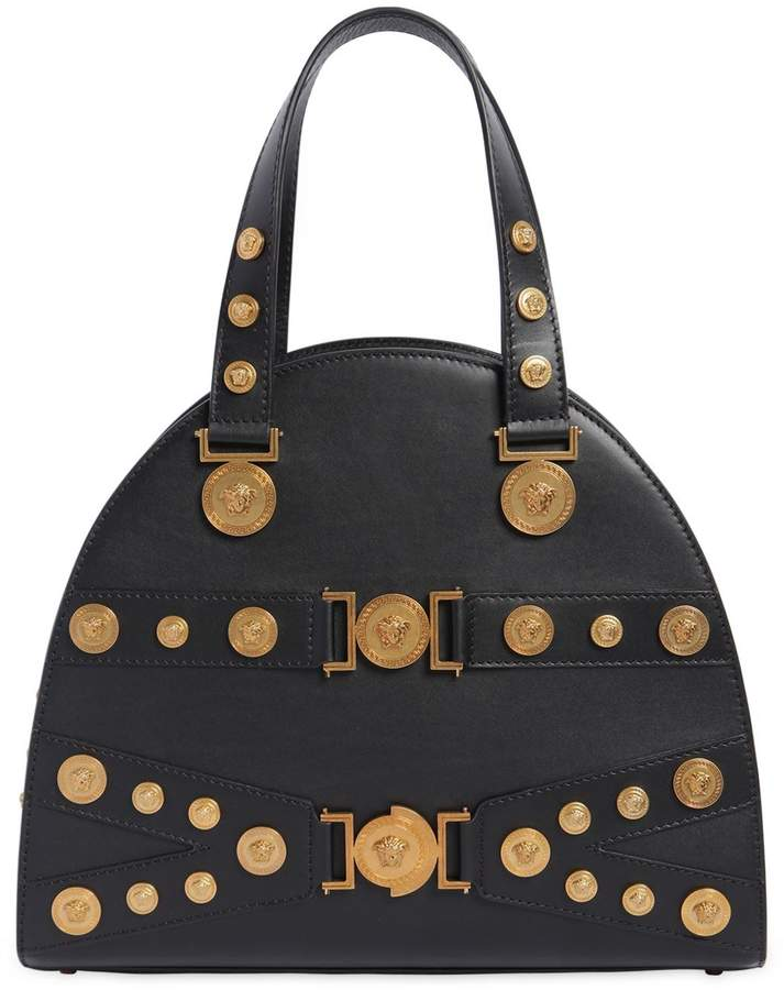 Medium Tribute Leather Top Handle Bag