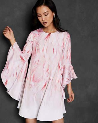 Ted Baker SAREINA Angel Falls waterfall sleeve dress