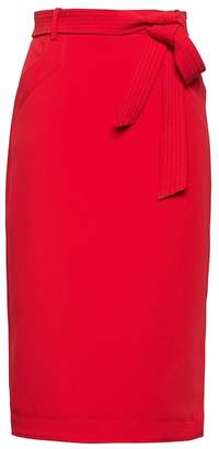 Banana Republic Petite Belted Pencil Skirt with Side Slit
