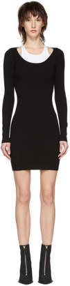 Alexander Wang Black and White Bi-Layer Bodycon Dress