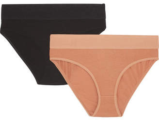 Base Range Baserange - Bell Set Of Two Stretch-bamboo Briefs - Sand