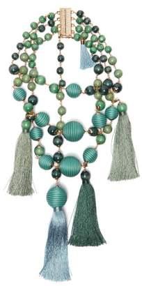 Rosantica By Michela Panero - Colonia Layered Bead & Tassel Necklace - Womens - Green