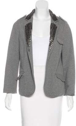 Gryphon Stud-Accented Open-Front Blazer