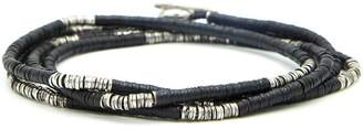 M. Cohen Mini Disc And African Bead Bracelet / Necklace