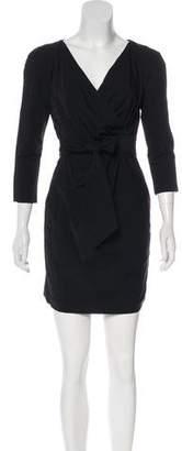 Diane von Furstenberg Faux Wrap Mini Dress