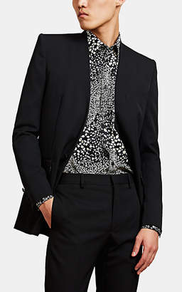 Givenchy Men's Twill Collarless One-Button Sportcoat - Black