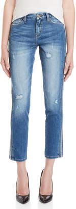 Flying Monkey Tuxedo Stripe Skinny Jeans