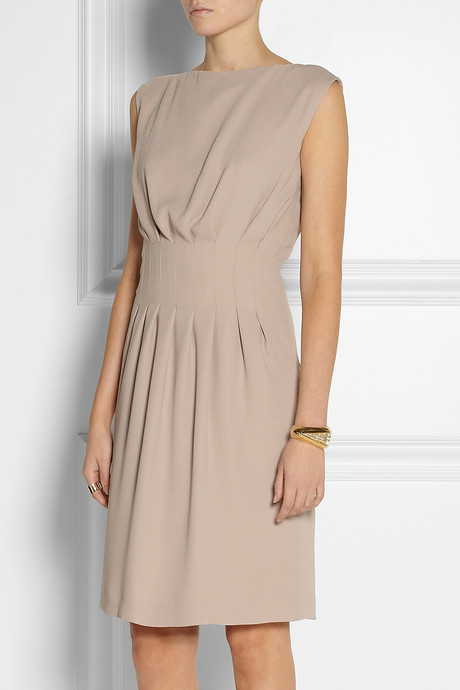 Maison Martin Margiela Pleated crepe dress