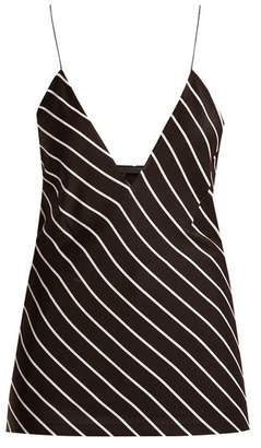 Haider Ackermann Striped Silk Satin Cami Top - Womens - Black White