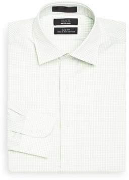 Saks Fifth Avenue BLACK Slim-Fit Mini-Gingham Dress Shirt