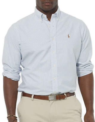 Polo Ralph Lauren Big and Tall Classic-Fit Striped Oxford Sport Shirt